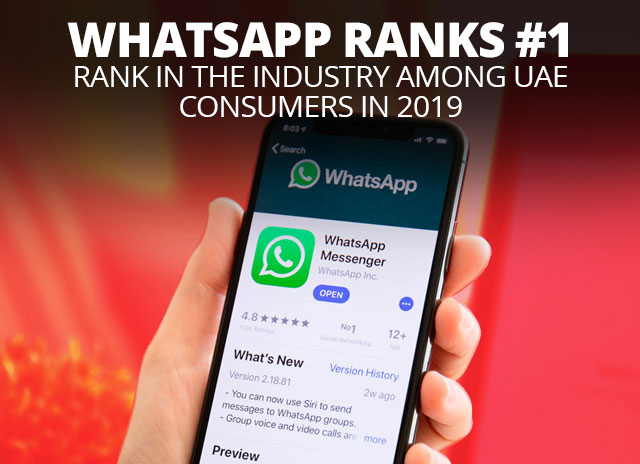 WhatsApp ranks #1 rank in the industry among UAE consumers in 2019